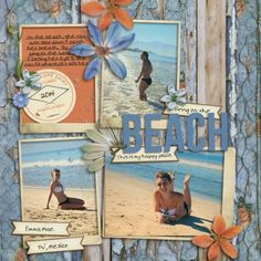 The lilypad bring on the beach cruise scrapbook pages, beach scrapbook layouts, scrapbook journal Cruise Scrapbook Pages, Beach Scrapbook Layouts, Vacation Scrapbook, Scrapbook Designs, Scrapbook Journal, Scrapbook Sketches, Scrapbook Supplies, Baby Scrapbook, Scrapbooking Layouts
