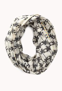 Tropical Palm Infinity Scarf | FOREVER21 #Accessories #CircleScarf