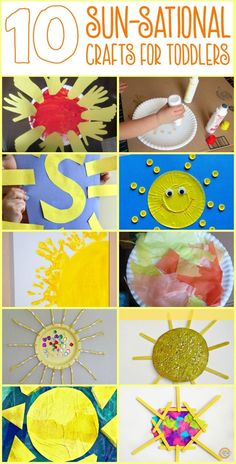 Let the sun shine in with these easy sun themed crafts for toddlers and preschoolers. Adult assistance may be required and who knows- you may find yourself getting in on the fun too!
