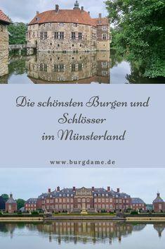 Münsterland ist das Land der 100 Schlösser. Es gibt unglaublich viele Wasserburgen und Schlösser im Münsterland zu entdecken. Ich zeige Euch die schönsten Burgen und Schlösser aus der Umgebung von Münster. #münsterland #münster #nordrheinwestfalen #nrw #burgenundschlösser #100schlösserroute Reisen In Europa, Big Ben, Mansions, House Styles, Building, Travel, Pictures, Castles, Travel Inspiration