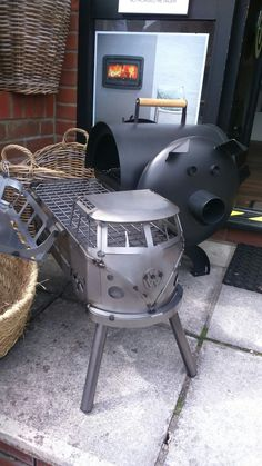 VW bus barbecue. Pick up one today! 01284 388188