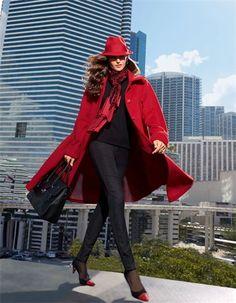Ein anspruchsvoller Mantel, der Sie mit Schwung und Eleganz durch den Mode-Herbst begleitet.