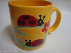 WAECHTERSBACH GERMANY Coffee Mug Tea Cup Vintage VTG Ceramic LadyBug Lady Bug
