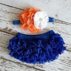FLORIDA GATORS INSPIRED Baby Girl Lace by LolaBeanClothing on Etsy, $19.95