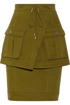 Balmain Army Green Skirt