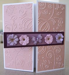 Couture Creations Encaustic Embossing Folder and Adalyn Pastel Chic Flowers