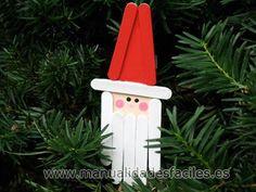 Papa Noel hecho de palos de polo