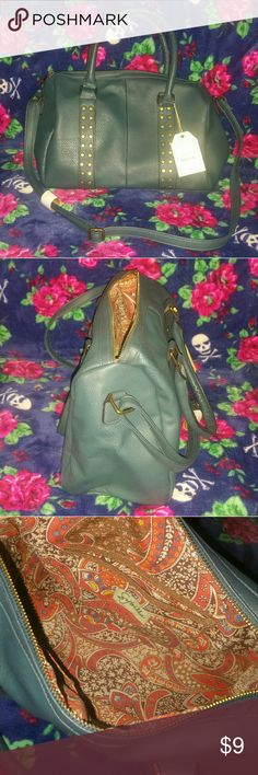 Dark turquoise purse / handbag This purse was purchased in Argentina. Brand new with tags. It's soft material type of bag.. not permanently shaped like the pictures. Feel free to ask if questions Bags Shoulder Bags