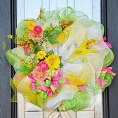 Citrus Colored Spring Wreath
