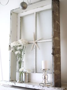 Old Window Crafts | Cleaning the Vintage Window ~ Beach Cottage Work in Progress ~ - Beach ...