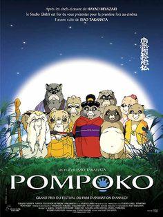 ¤ Pompoko - Jusqu'au milieu du XXe siècle, les tanukis, emprunts d'habitudes frivoles, partageaient aisément leur espace vital avec les paysans. Leur existence était douce et paisible. Mais le gouvernement amorce la construction de la ville nouvelle de Tama. On commence à détruire fermes et forêts. Leur habitat devenu trop étroit, les tanukis jadis prospères et pacifistes se font la guerre, l'enjeu étant de conserver son bout de territoire.