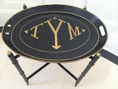 monogram tray ~ The Enchanted Home