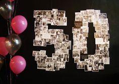 Toda festa de aniversário é um momento muito especial. Esta, de 50 anos, foi planejada com muito carinho pela aniversariante que procurou fotos de todos os convidados para compor a decoração. Com a...: