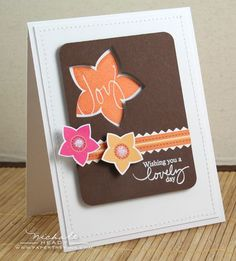 Lovely Day Card - would love to do this with a butterfly