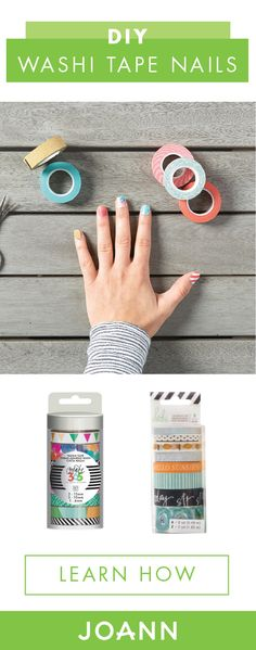 If these DIY Washi Tape Nails aren't ideal for spring we don't know what are! Full of fun pattern and color, giving yourself a quirky and creative manicure at home as never been easier. Learn how with the full tutorial from JOANN!