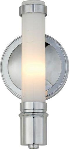 One Light Chrome Wall Light
