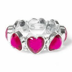 Gem Heart Stretch Bracelet | Claire's