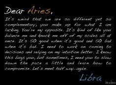 Dear Aries ....               from , Libra