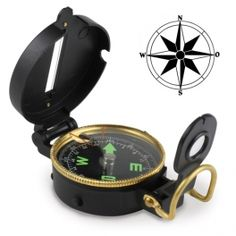 Orientation won't be a problem again thanks to the incredible lensatic compass with cover and viewer! This pocket compass is very useful and user-friendly. With cardinal points and degrees floating sphere, cover with indicating line and vi. Pocket Compass, Nautical Compass, Travel Accessories, Gadgets, The Incredibles, Watches, Cover, Trips, Gifts