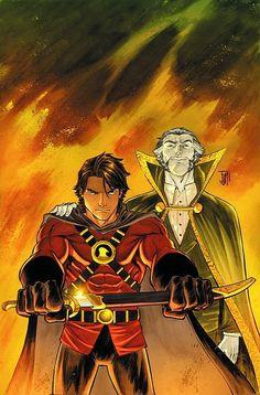 Tim Drake (Red Robin) and Ra's al Ghul Batwoman, Nightwing, Batgirl, Drake Photos, Robin Photos, I Am Batman, Batman Robin, Superman, Batman Sidekicks