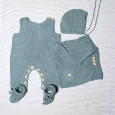 Items similar to 4 piece newborn layette. Take me home outfit. Baby Knitting, Crochet Baby, Baby Layette, Home Outfit, Take Me Home, Baby Things, Mint Green, Rompers, Trending Outfits