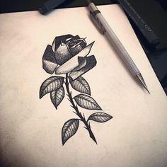 Black Rose - Blackwork