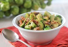 Brussels Sprouts with Bacon and Herbs http://www.thegalleygourmet.net/2012/11/brussels-sprouts-with-bacon-and-herbs.html