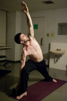 beautiful yoga, male, guy, man, Utthita Parsvakonasana