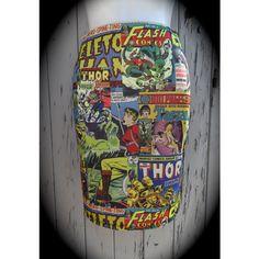b1f015bd14797 Comic Book Cover Pencil Skirt Size 8 10 12 14 Bodycon Retro Wiggle.