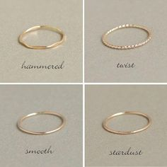 Gold-fill and Sterling Silver rings, set of Thin Stacking rings, gold and silver stack rings, minimalist rings, gold ring - Fine Jewelry Ideas Rose Gold Engagement Ring, Vintage Engagement Rings, Diamond Wedding Bands, Vintage Rings, Wedding Rings, Wedding Gold, Zierlicher Ring, Jewelry Rings, Silver Jewelry