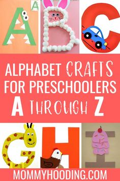 Are you teaching letters to your toddler or preschooler? Teach them letter recognition, letter sounds and more with these fun letter of the week crafts and letter activities! Make learning the alphabet fun with these alphabet crafts! Alphabet Letter Crafts, Preschool Letters, Preschool Activities, Teaching Toddlers Letters, Teaching Toddlers Abc, Letter Sound Activities, Craft Letters, Abc Crafts, Alphabet Games