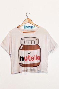 Nutella Crop Top   fresh-tops.com