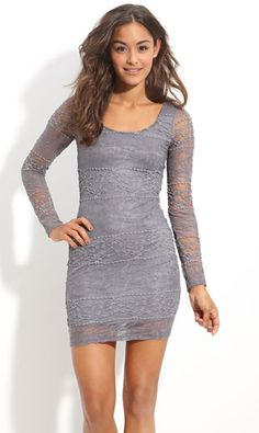 Gray Lace | full sleeve lace dress grey lace dress gray lacey dress womens ...