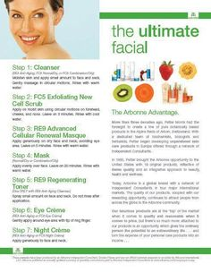 Give yourself the ultimate facial in the comfort of your own home with Arbonne!