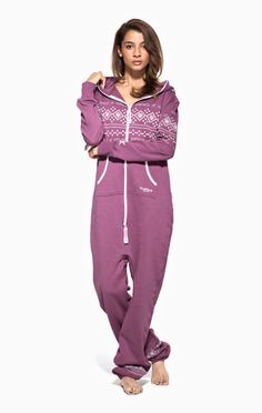 83005d1257 Lusekofte Onesie Wine Purple