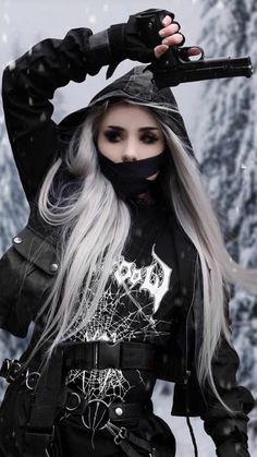 Hipster Outfits, Gothic Outfits, Edgy Outfits, Anime Outfits, Grunge Outfits, Dark Anime Girl, Anime Girl Cute, Aesthetic Grunge Outfit, Bad Girl Aesthetic