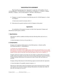 subcontractor long form contract contractor and employee subcontractor agreement form. Black Bedroom Furniture Sets. Home Design Ideas