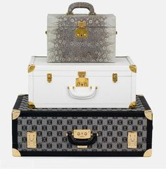 cover an old ugly suitcase with white or grey
