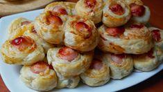 Easy Snacks, Sushi, Shrimp, Sausage, Garlic, Food And Drink, Meat, Vegetables, Ethnic Recipes