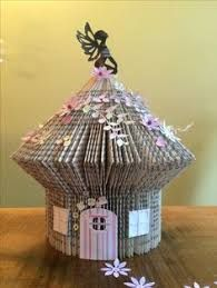 Image result for folding book fairy house
