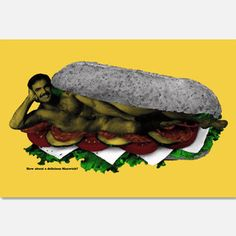 Manwich Print 18x12 now featured on Fab.