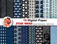 16 x Star Wars paper- Digital paper patterns, Scrapbooking Paper, Instant Download (No. 15) by JonyRama on Etsy https://www.etsy.com/listing/218323101/16-x-star-wars-paper-digital-paper