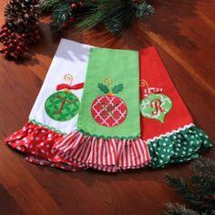 Monogram Linen Christmas Towel   Kirkland's