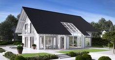 Massivhaus Kern-Haus Familienhaus Maxime Gartenseite