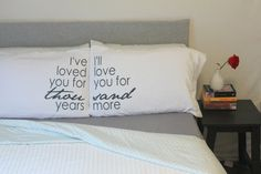 Hey, I found this really awesome Etsy listing at https://www.etsy.com/listing/176554523/couples-pillow-cases-i-have-loved-you