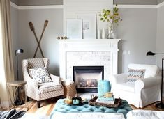 Learn how to choose a grey paint color that compliments your furnishings. Via @theinspiredroom for MyColortopia.com