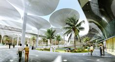 Masdar Plaza by LAVA - i love those shading mushrooms. definitely welcome in UAE's climate