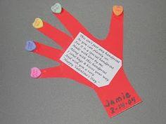 Handprint and Footprint Arts & Crafts: Handprint & Thumbprint Valentines Ideas