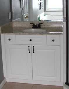 My EnRoute life: Painted faux granite countertops!  Also uses mitre box from Home Depot!!!