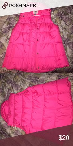 Pink Old Navy Vest Brand new, only worn once hot pink Old Navy vest. Old Navy Jackets & Coats Vests